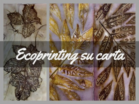 ECOPRINTING SU CARTA