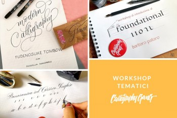 WORKSHOP TEMATICI - CONOSCIAMO LA CALLIGRAPHY GANG