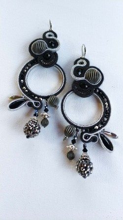 "Orecchini ""Dark Night"" (Soutache)"