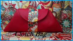 Clotch bag in ecopelle e Tessuto