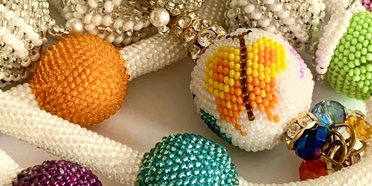 Bead Crochet: How to cover a ball
